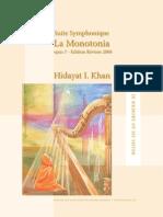 La Monotonia, Op.7 (Khan, Hidayat Inayat)
