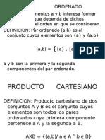 Producto Cartesiano, Producto Composición, Relaciones