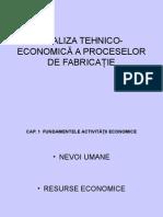 Economica a Proceselor de Fabricatie Procesare II