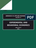 Experimental and Behavioral Economics