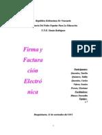Trabajo sobre Firmas y Facturas Electrónicas