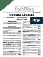 Normas Legales, miércoles 11 de noviembre del 2015