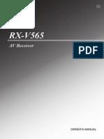 Yamaha RX-V565 User Manual