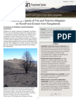 Assessing impacts of fire and post-fire mitigation on runoff and erosion from rangelands