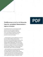 Proyecto Ley Educación Superior-República Argentina