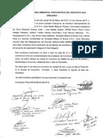 Acta de Monitoreo Participativo Del Proyecto San Gregorio