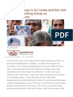 Disappearances in Sri Lanka and the Visit of the UN Working Group on Disappearances