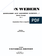 Anton Webern Op. 2 - Entflieht Auf Leichten Kähnen