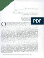 Faulkner Si Critica de Supravietuire