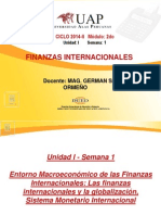 1. Las Finanzas Internacionales y La Globalización, Sistema Monetario Internacional