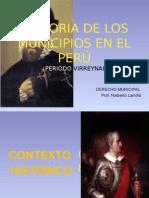 Tema 3, Historia de Los Municipios en El Perú