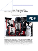 Hitler, Bormann, Canaris and Von Ribbentrop actors and agents of MI6