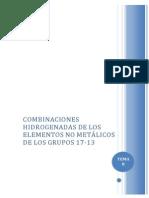 Tema 8 - Combinaciones Hidrogenadas de ENM de Los Grupos 17 - 13