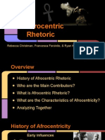 afrocentric rhetoric