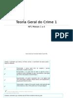 Exercicios Da Teoria Do Crime  NP1