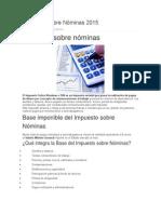 Impuesto Sobre Nóminas 2015
