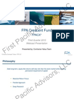 Steve Romick FPA Crescent Fund Q3 Investor Presentation