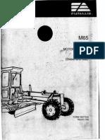 Fiat Allis M65 Motor Grader Manual