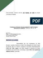 Resposta Acusado Acusacao Alegacoes Iniciais Descaminho Contrabando Banco Quadrilha Modelo 243 BC225