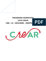 PROGRAMA CREAR UDP