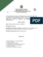 Edital Concurso UFU - Bibliografia