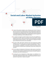 Social and Labor Market Inclusion of Older Persons