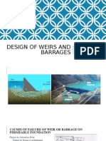 Design of Weirs and Barrages
