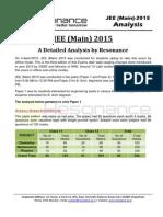 JEE Main 2015 Analysis by Resonance Eduventures v1