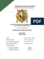 UNMSM INFORME N°4 DE LABORATORIO DE QUIMCA ORGANICA. grupo del profesor Ramiz