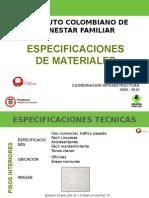 SP. MATERIALES