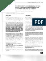 1995 - Palacios y Pelaez-Vargas - Comparacion de La Reproducibilidad de Dos Materiales de Impresion de Hidrocoloide Irreversible - Rev CES Odont
