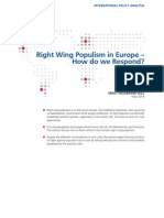 Right Wing Populism in Europe – How do we Respond?