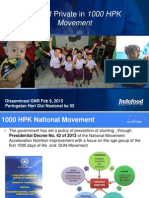 Role of Private in 1000 HPK Movement (Februari 2015)