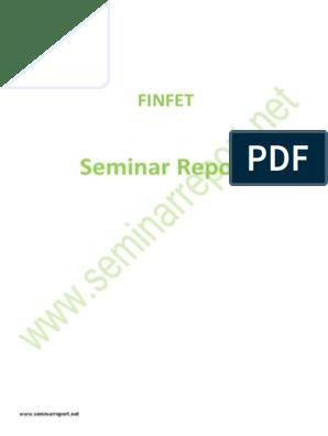 Finfet Technology Seminar Report   Field Effect Transistor   Mosfet