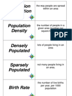 Population flashcards