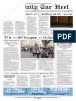 The Daily Tar Heel from Nov. 12, 2015