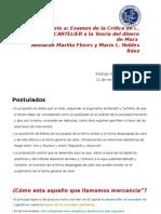 Comentario a Examen de La Crítica de C Benetti y J CARTELIER a La Teoría Del Dinero de Marx