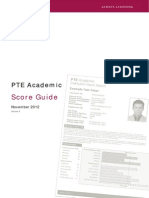 PTE Academic Score Guide