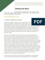 01 - A Existência de Deus - Resumo dos ensinamentos Católicos.pdf