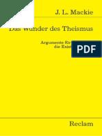 Das Wunder Des Theismus