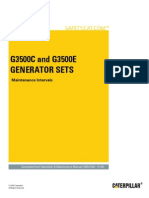 G3500C and G3500E Generator Sets-Maintenance Intervals