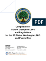 Compilation of School Discipline Laws and Regulations for the 50 States