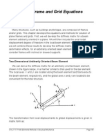 plane frame and grid equations