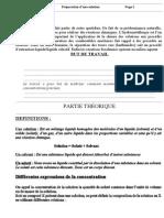 TP n° 3 (Préparation d'une solution)  ( www.espace-etudiant.net )