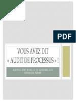 Processus Audit et méthodologique