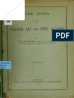 The Coins of Haidar Ali and Tipu Sultan