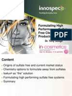 Formulating High Performance, Sulfate-free Cleansing Products