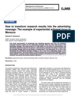How to transform research results into the advertising message