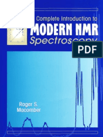 A Complete Introduction to Modern NMR Spectroscopy