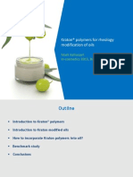 Polymers for rheology modification of oils